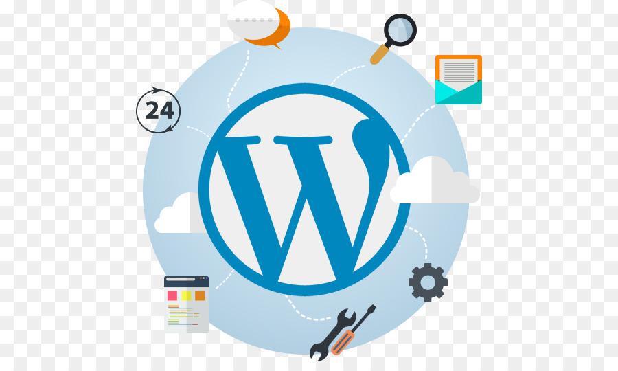 Descarga gratuita de Desarrollo Web, Logotipo, Wordpress Imágen de Png