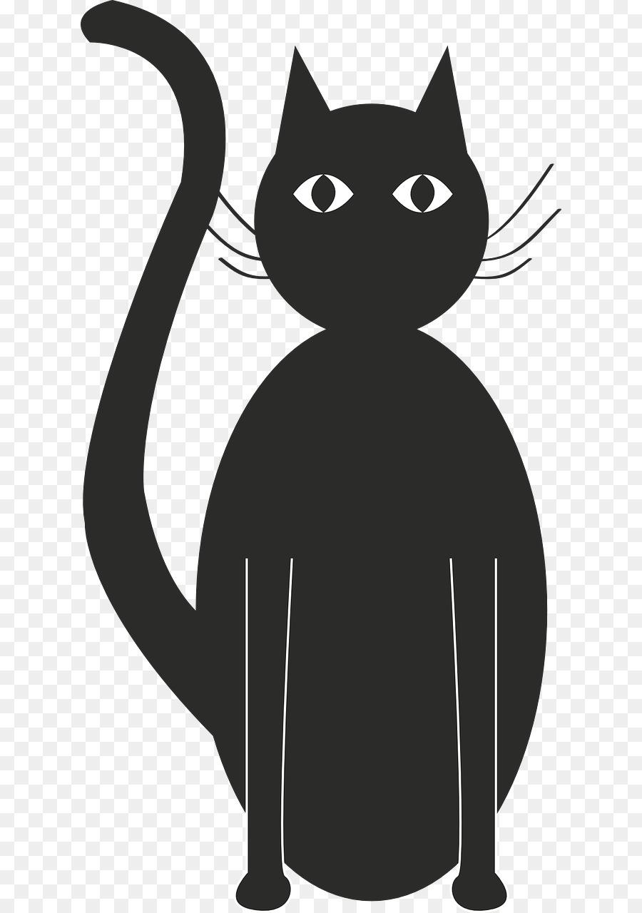 Descarga gratuita de Gato Negro, Silueta, Gatito Imágen de Png