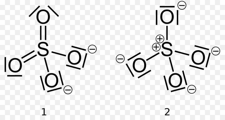 Carga Formal La Estructura De Lewis Sulfato De Imagen Png