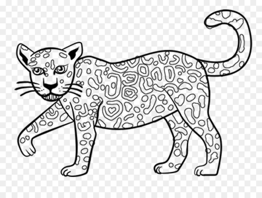 Jaguar Libro Para Colorear Niño Imagen Png Imagen Transparente