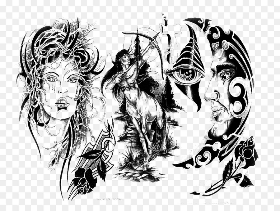 Descarga gratuita de Tatuaje, La Manga Del Tatuaje, En Blanco Y Negro Imágen de Png