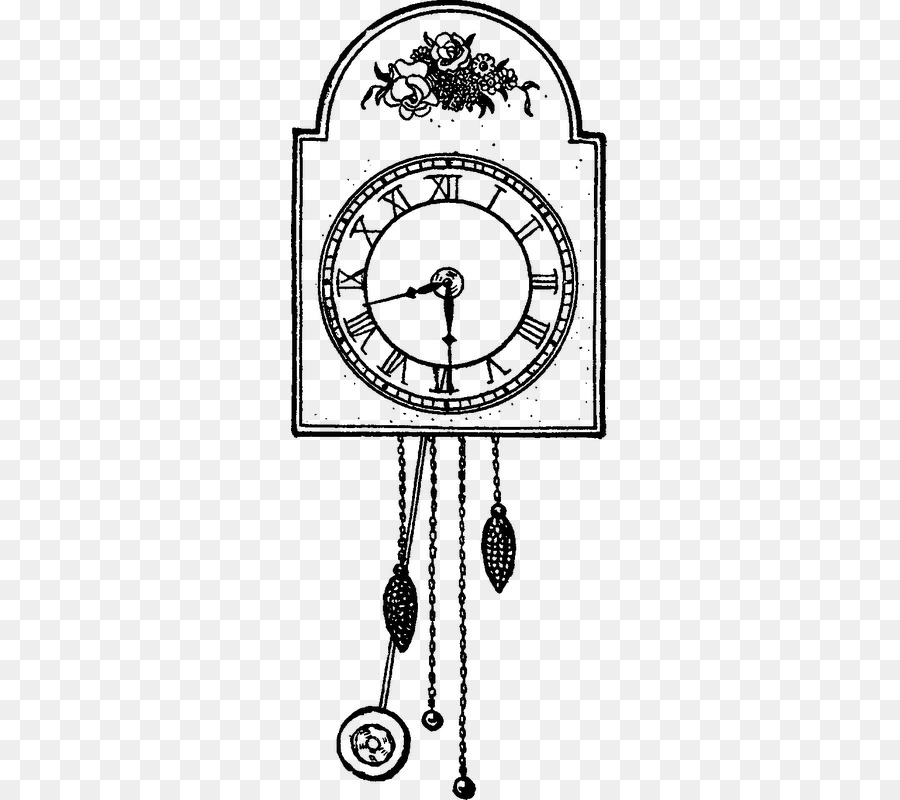 Libro Para Colorear Dibujo Reloj De Cuco Imagen Png Imagen