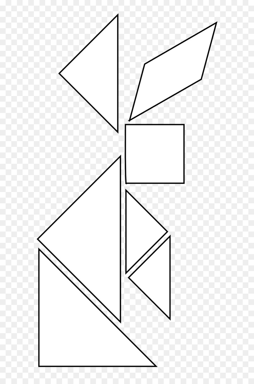 Tangram Libro Para Colorear Forma Geométrica Imagen Png