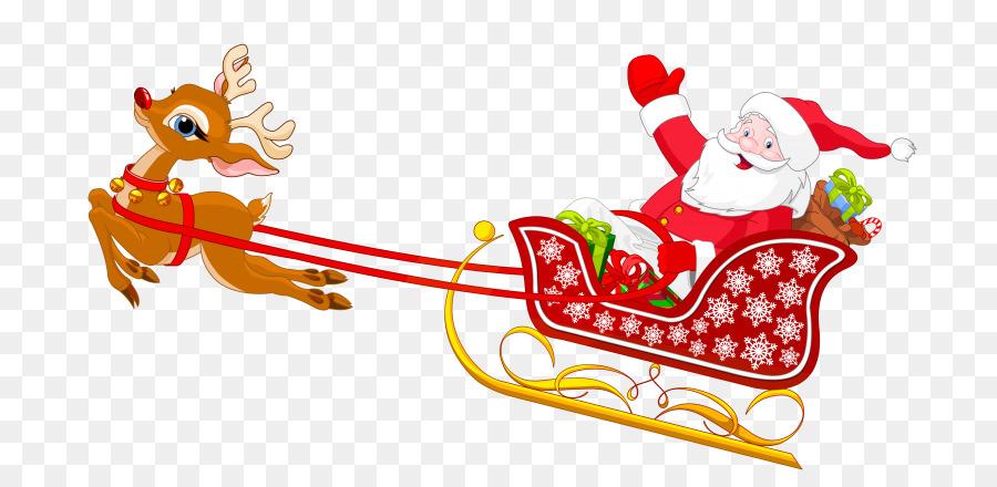 Descarga gratuita de Santa Claus, Trineo, Dibujo Imágen de Png