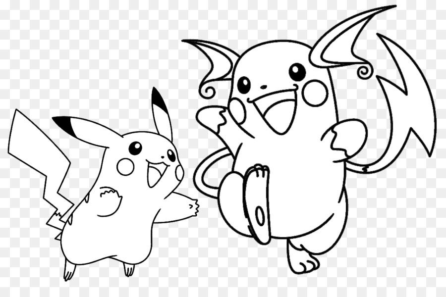 Pikachu Raichu Libro Para Colorear Imagen Png Imagen