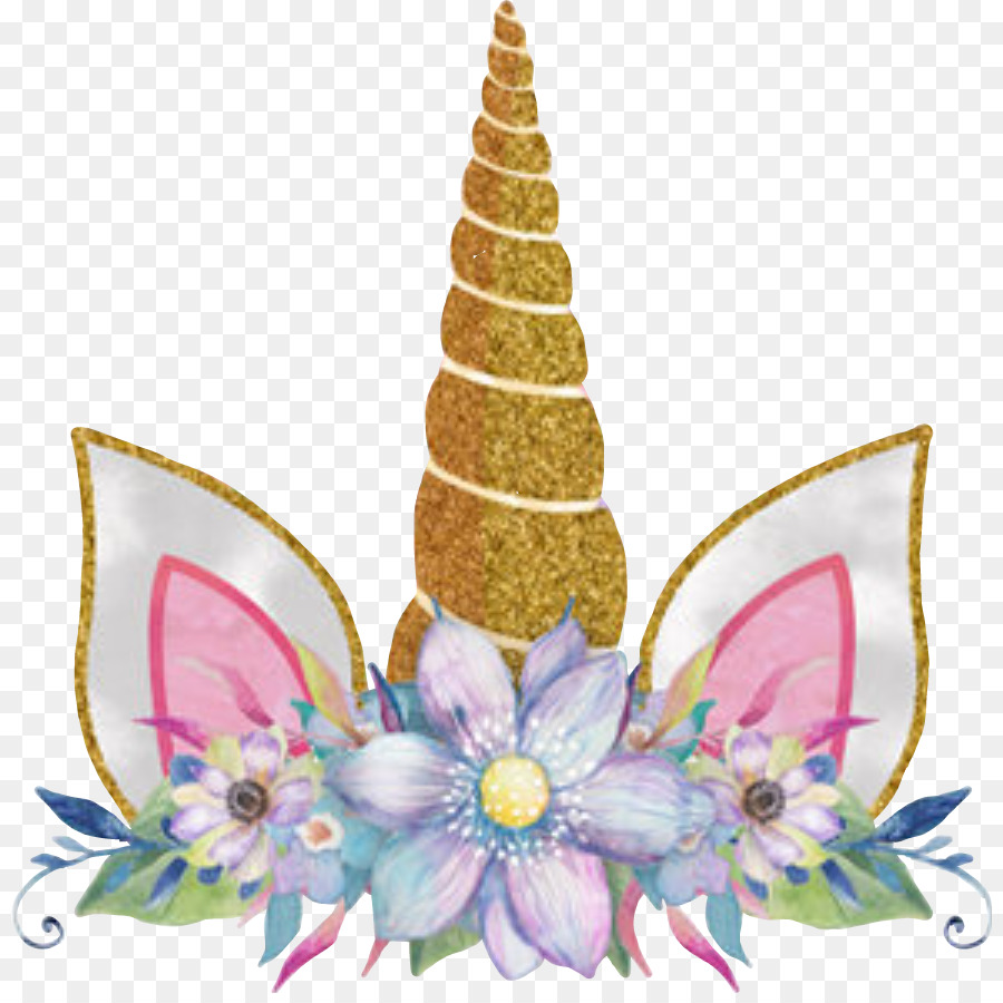 Descarga gratuita de Unicornio, Flor, Corona imágenes PNG