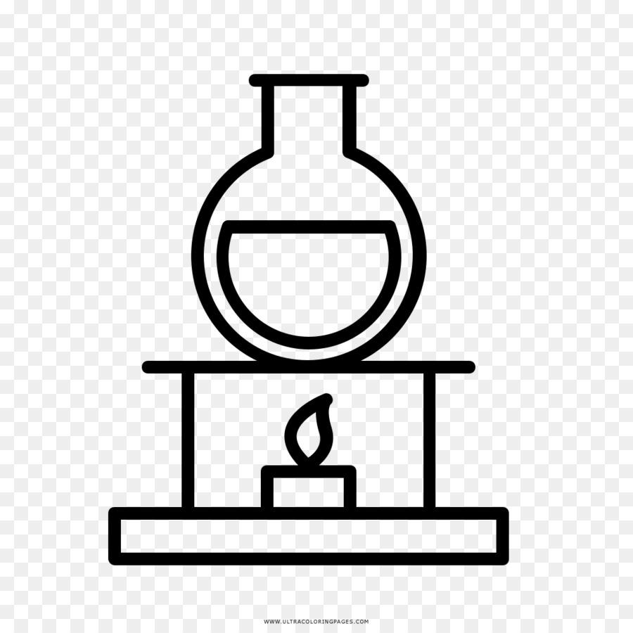 Dibujo La Química Libro Para Colorear Imagen Png Imagen