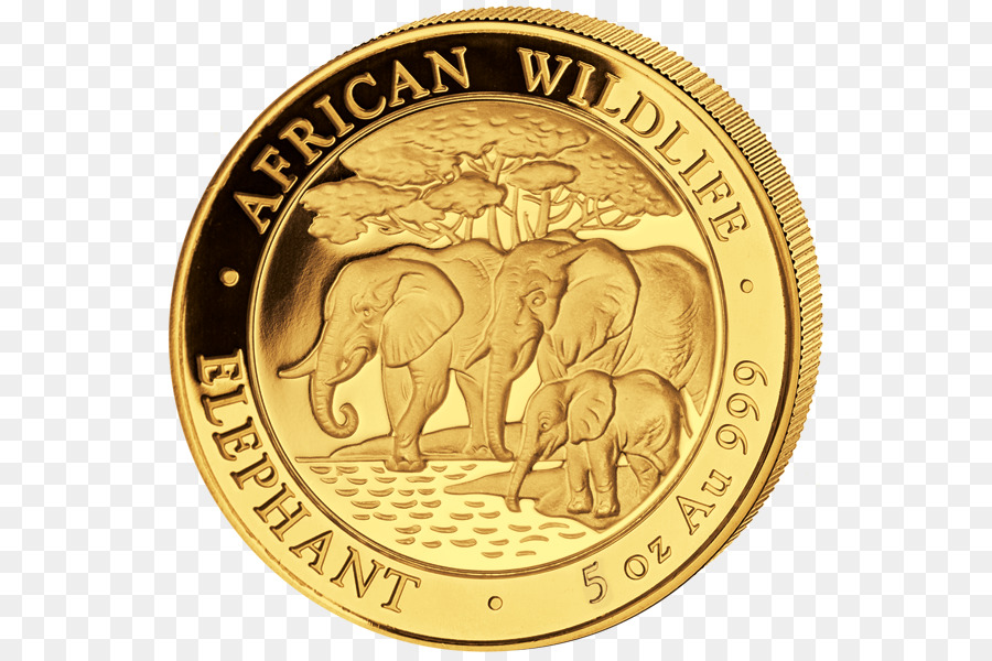 Descarga gratuita de Moneda, Oro, El Elefante Africano Imágen de Png