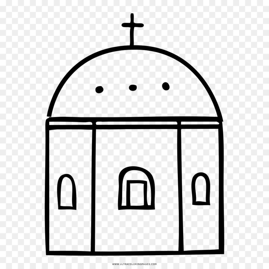 La Iglesia Dibujo Libro Para Colorear Imagen Png Imagen