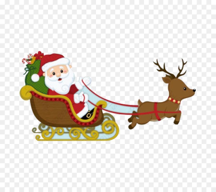 Descarga gratuita de Santa Claus, Adorno De Navidad, Trineo Imágen de Png