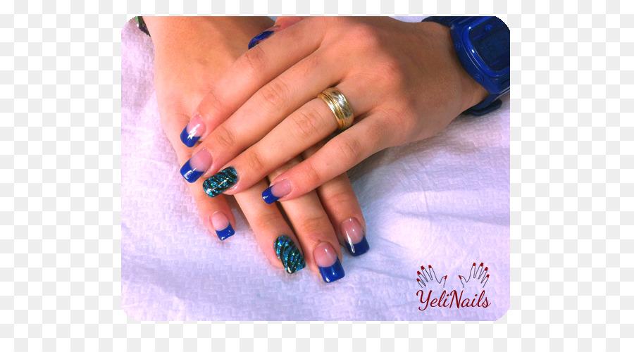 Uñas Manicura Azul Imagen Png Imagen Transparente