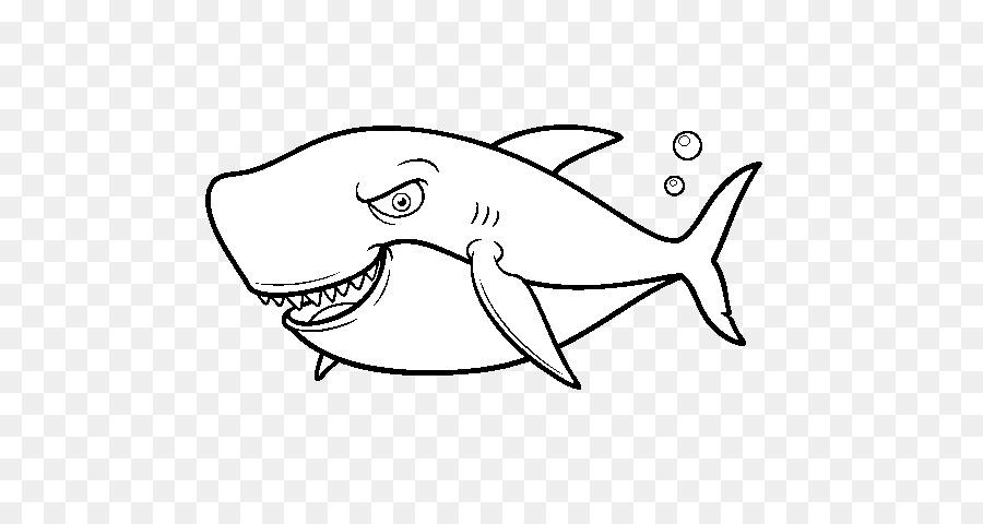 Tiburón Dibujo Libro Para Colorear Imagen Png Imagen
