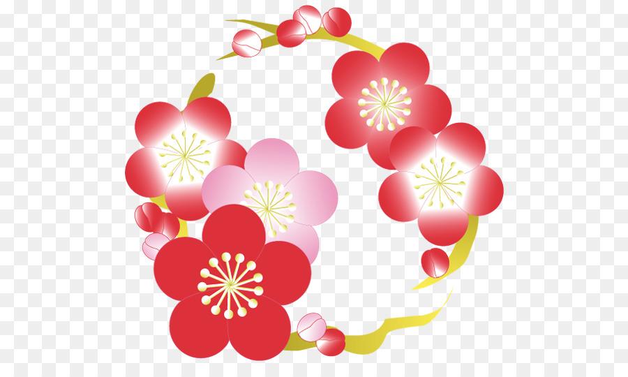 Descarga gratuita de Diseño Floral, Flor, Tarjeta De Año Nuevo imágenes PNG
