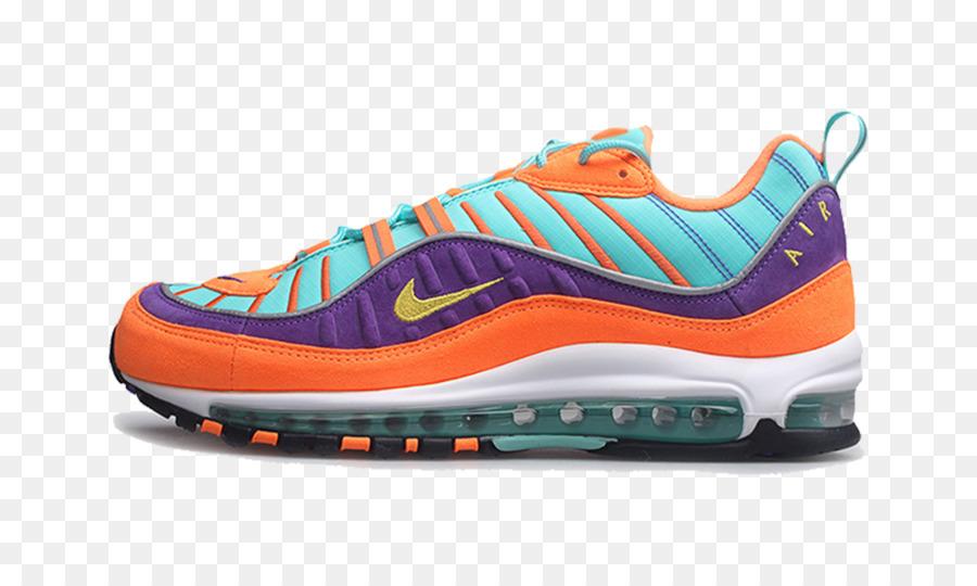air max 98 naranjas y azules