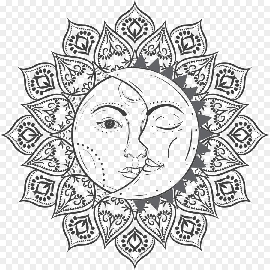 Eclipse Solar Libro Para Colorear Sol Imagen Png Imagen