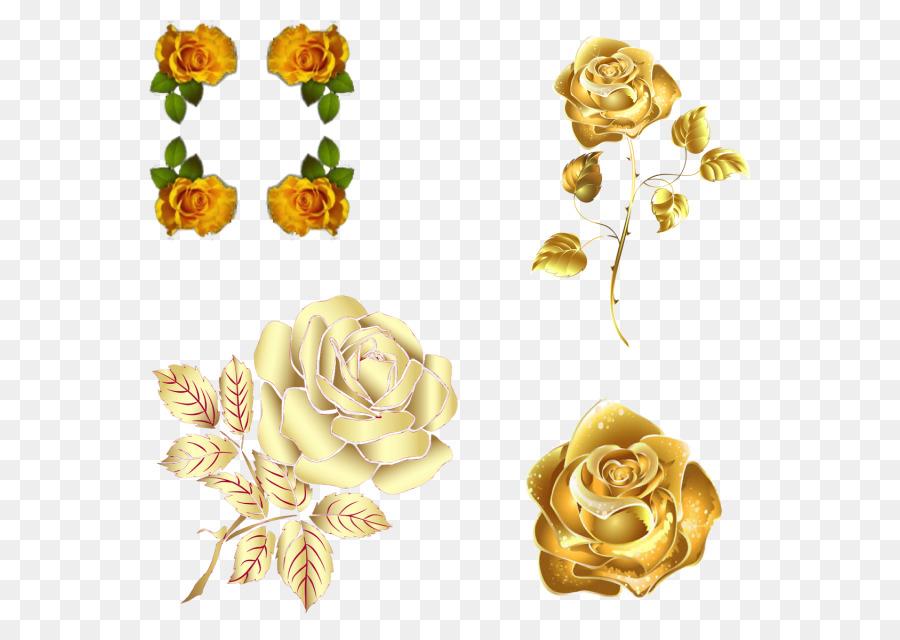 Descarga gratuita de Rosa, Flor, Oro Imágen de Png