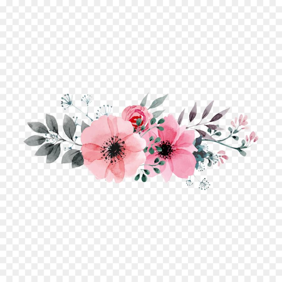Descarga gratuita de Diseño Floral, Acuarela De Flores, Flor Imágen de Png