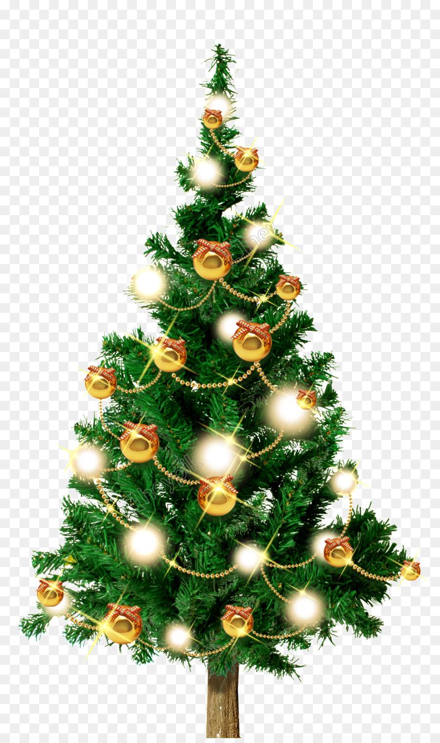 Descarga gratuita de árbol De Navidad, Abeto, Santa Claus Imágen de Png