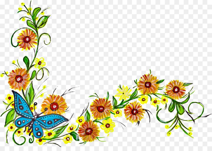 Descarga gratuita de Diseño Floral, Bordes Y Marcos, Flor imágenes PNG