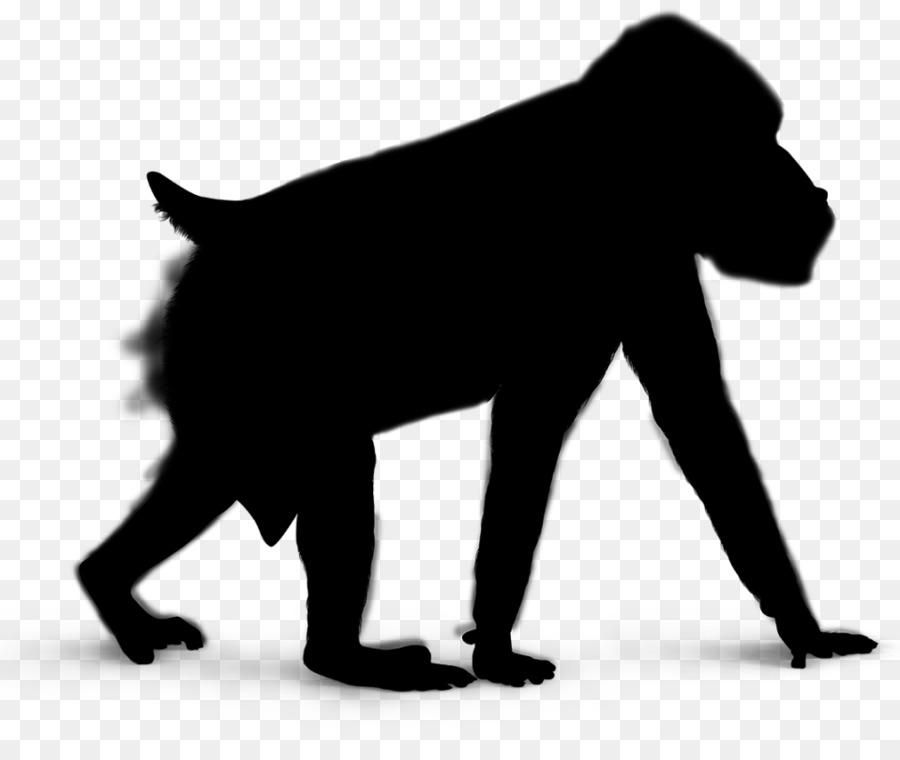 Descarga gratuita de Gorila, Silueta, Royaltyfree imágenes PNG