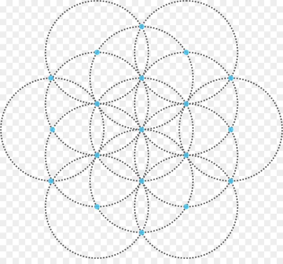 Descarga gratuita de Forma Geométrica, La Geometría, La Superposición De Los Círculos De La Cuadrícula imágenes PNG