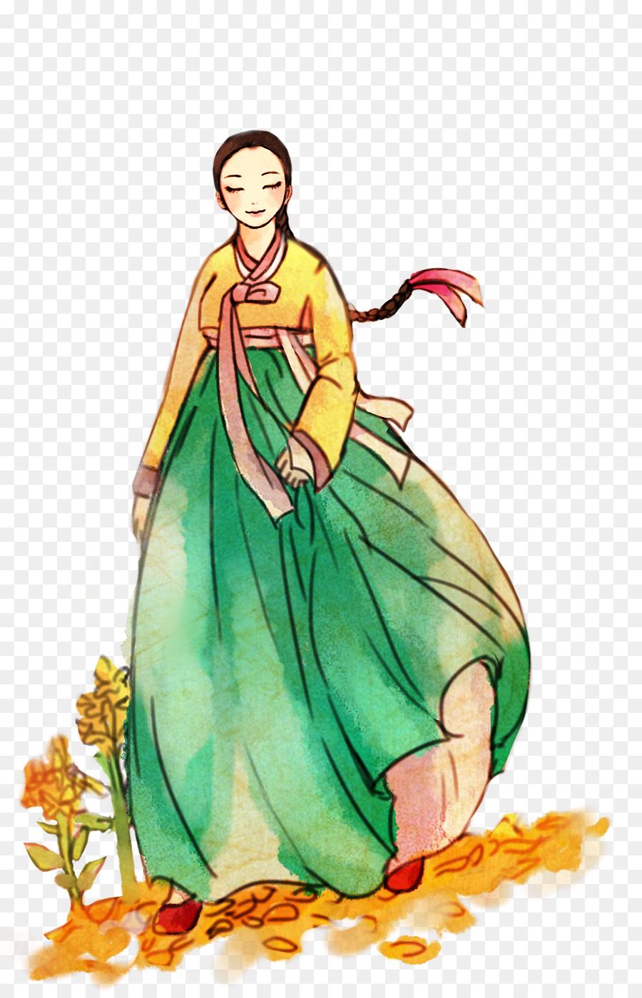 Descarga gratuita de Hanbok, Corea Del Sur, Dibujo imágenes PNG