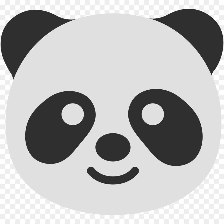 El Panda Gigante Libro Para Colorear Emoji Imagen Png