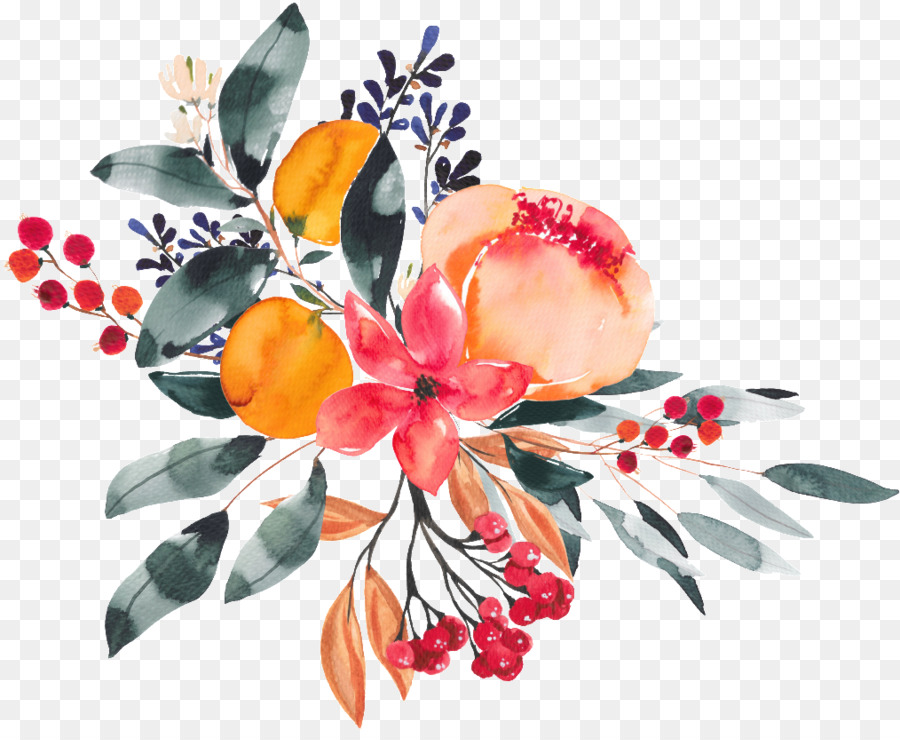 Descarga gratuita de Diseño Floral, Flor, Pintura A La Acuarela imágenes PNG