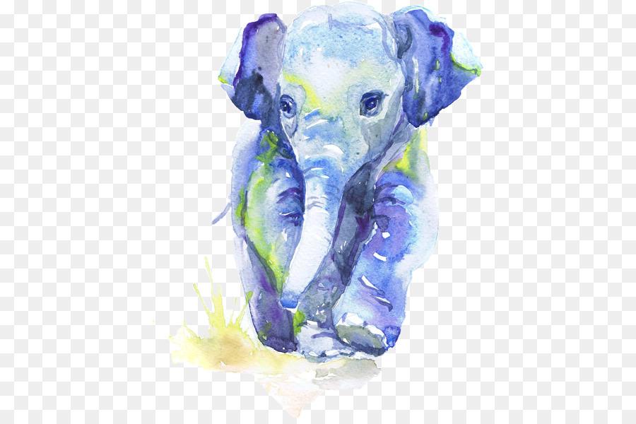 Descarga gratuita de Pintura A La Acuarela, Pintura, Elefante Indio Imágen de Png