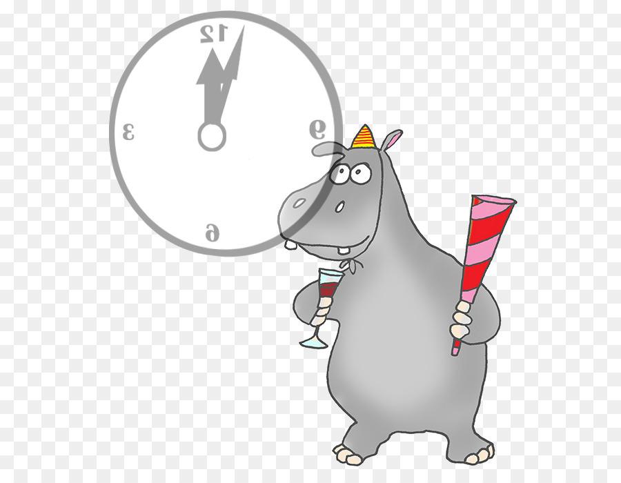 Descarga gratuita de Hipopótamo, Año Nuevo, Royaltyfree imágenes PNG