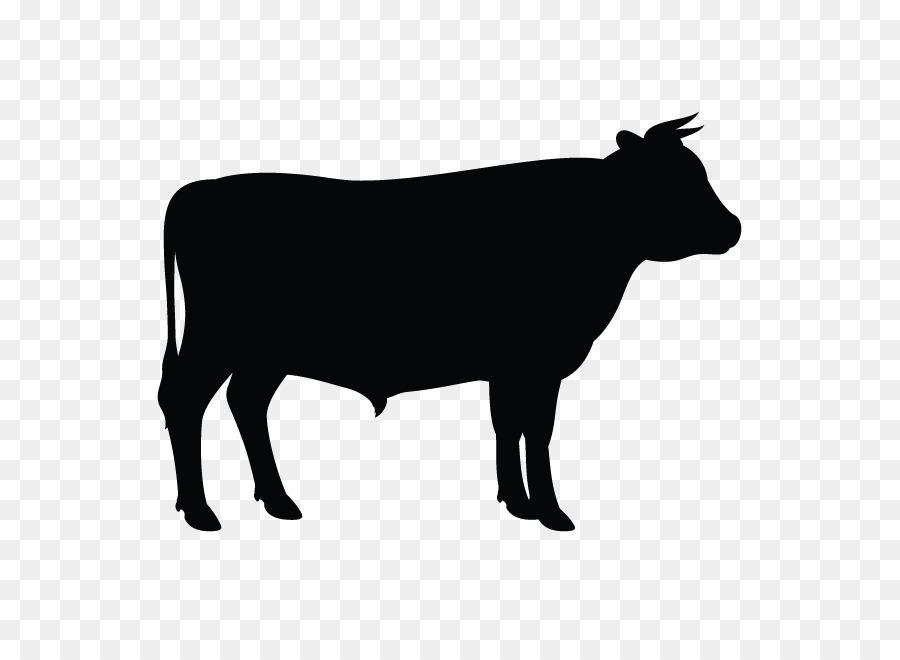 Descarga gratuita de Ganado Angus, Silueta, Ganado Holstein Friesian imágenes PNG