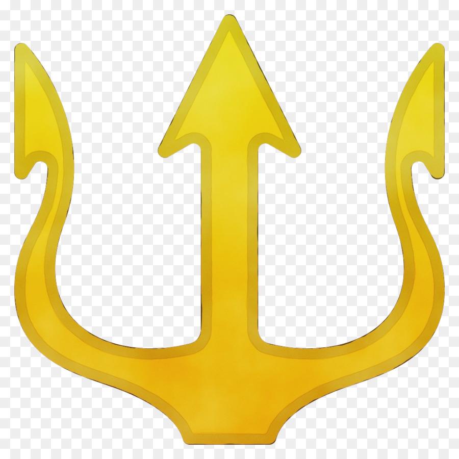 Descarga gratuita de Emoji, Trident, Amarillo imágenes PNG