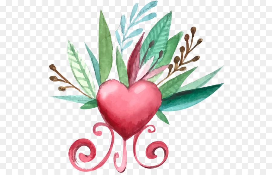 Descarga gratuita de El Día De San Valentín, Pintura A La Acuarela, Dibujo Imágen de Png