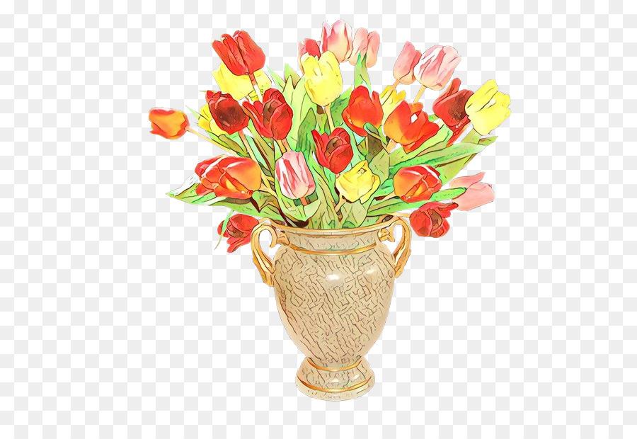 Descarga gratuita de Diseño Floral, Florero, Tulip imágenes PNG