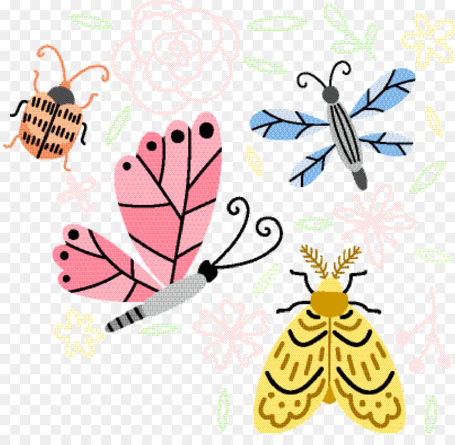 Descarga gratuita de La Mariposa Monarca, Brushfooted Mariposas, Los Insectos Imágen de Png