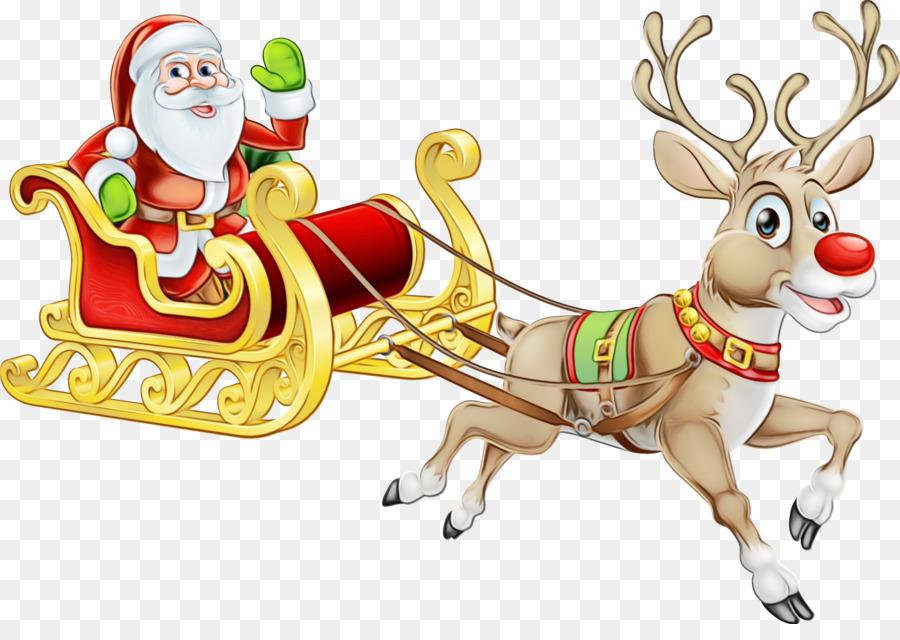 Descarga gratuita de Rudolph, La Navidad, Santa Claus Imágen de Png