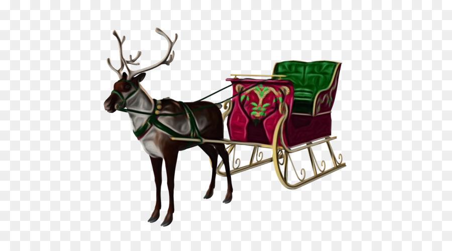Descarga gratuita de Los Ciervos, Santa Claus, La Navidad Imágen de Png