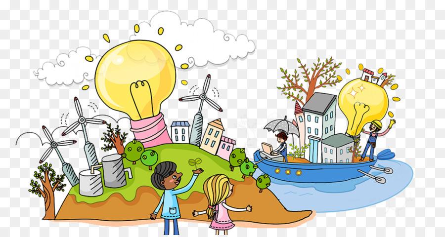 Descarga gratuita de La Energía Solar De La Torre, La Energía Solar, La Energía Eólica imágenes PNG