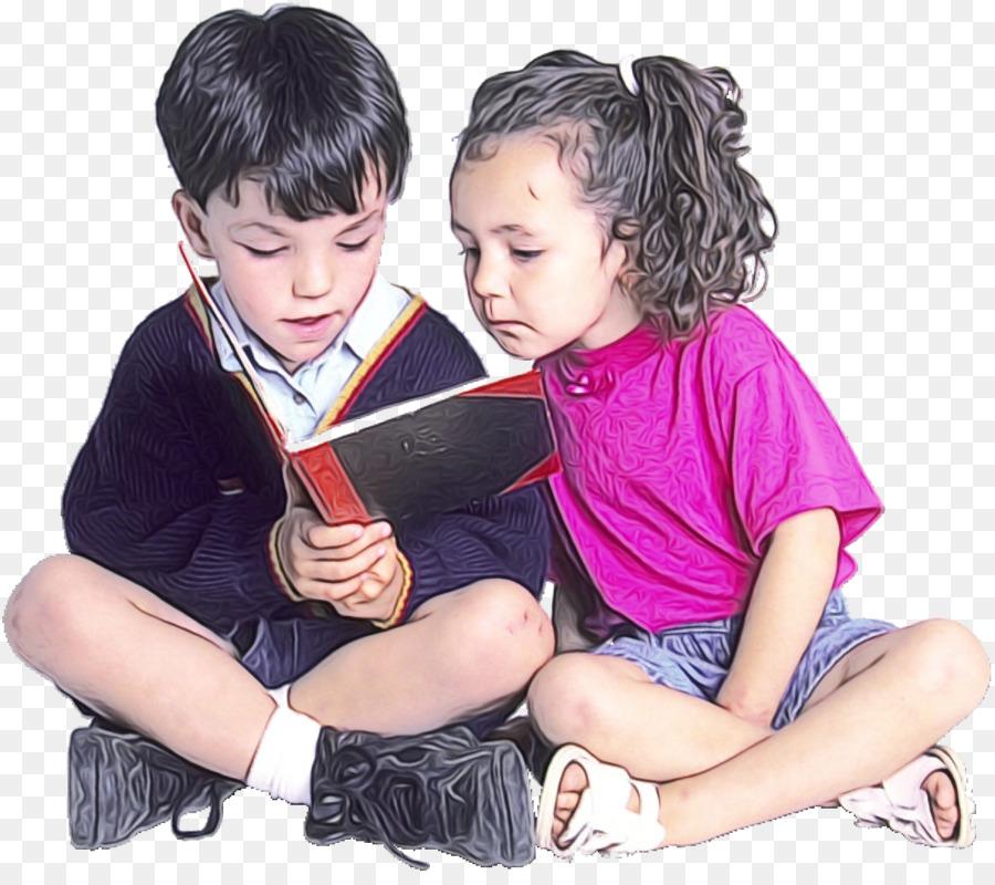 Descarga gratuita de Niño, La Lectura, Sentado Imágen de Png