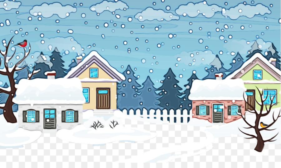 Descarga gratuita de La Nieve, Invierno, Casa Imágen de Png
