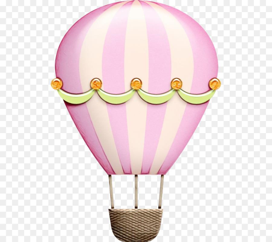 Descarga gratuita de Globo De Aire Caliente, Rosa, Iluminación imágenes PNG