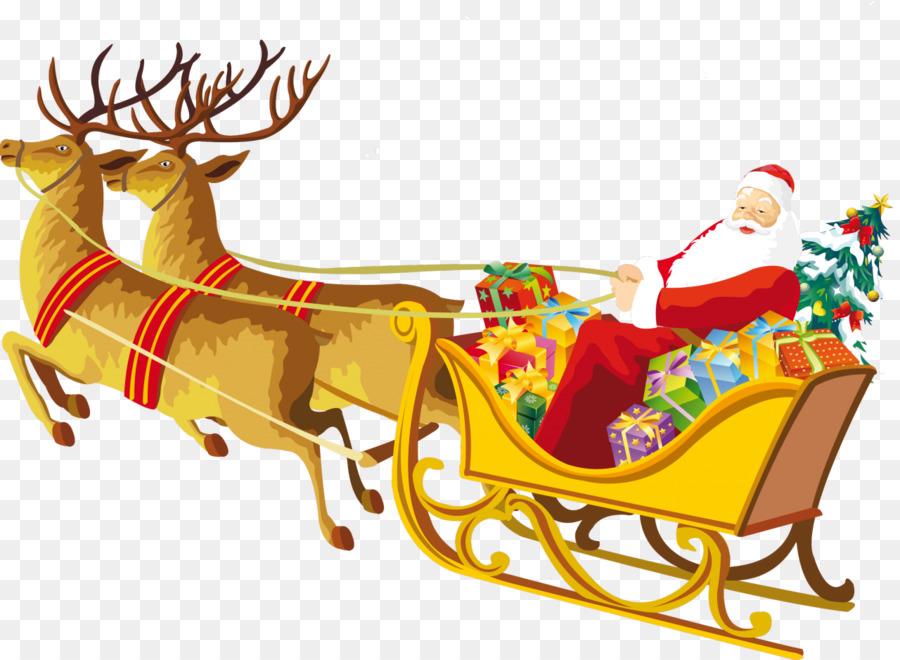 Descarga gratuita de Trineo, Santa Claus, Vehículo Imágen de Png