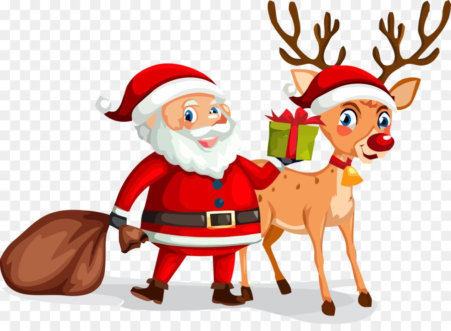 Descarga gratuita de Santa Claus, Los Ciervos, La Navidad Imágen de Png