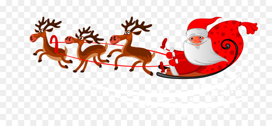 Descarga gratuita de Santa Claus, Los Ciervos, La Víspera De Navidad imágenes PNG