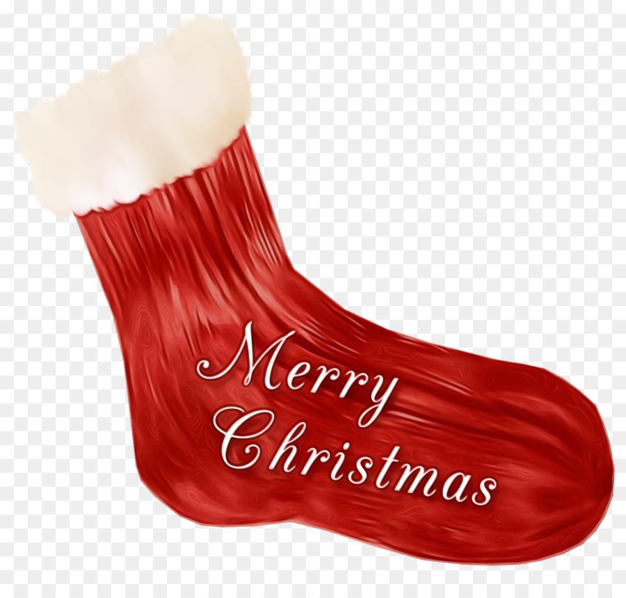 Descarga gratuita de Rojo, Calcetín De Navidad, Decoración De La Navidad imágenes PNG