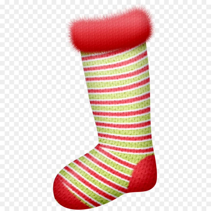 Descarga gratuita de Calcetín De Navidad, Rojo, Verde Imágen de Png