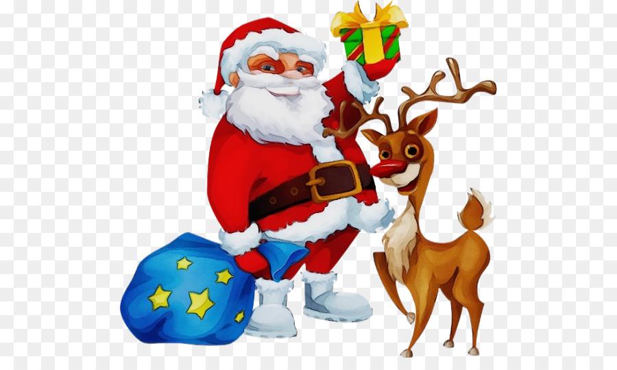 Descarga gratuita de Santa Claus, La Navidad, Los Ciervos imágenes PNG