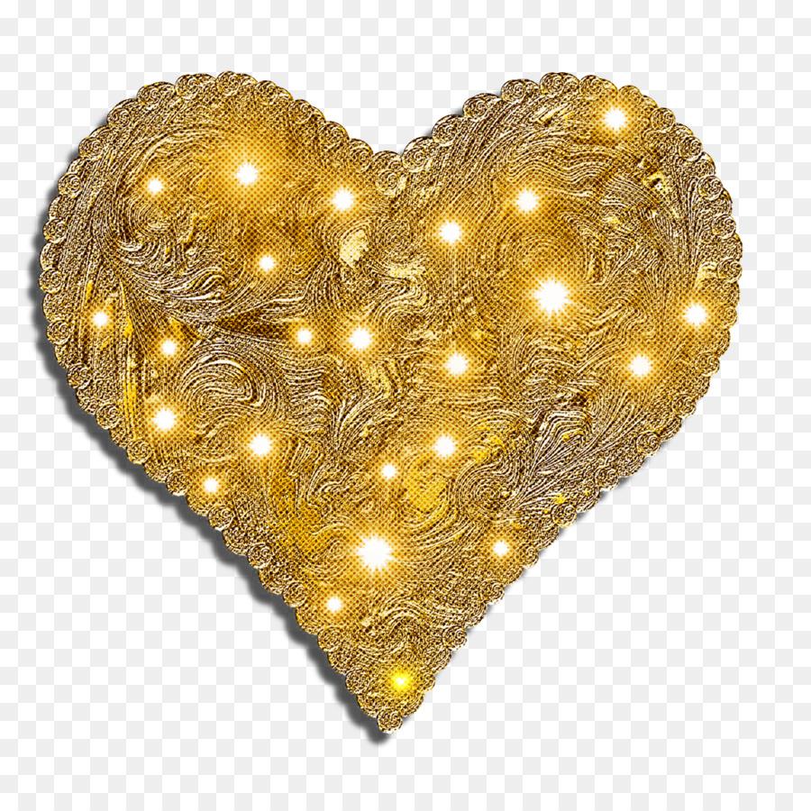 Descarga gratuita de Corazón, Oro, Amarillo Imágen de Png