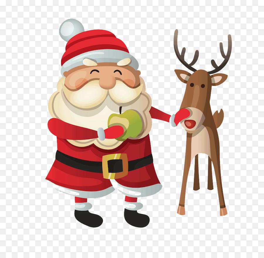 Descarga gratuita de Santa Claus, La Navidad, Los Ciervos Imágen de Png