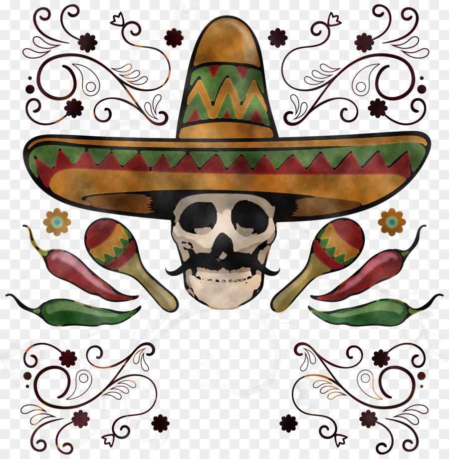 Descarga gratuita de Cráneo De Arte, Día De Los Muertos, Cinco imágenes PNG